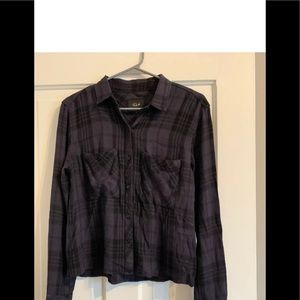 Rails Dylan Button Down Carbon & Black S Small
